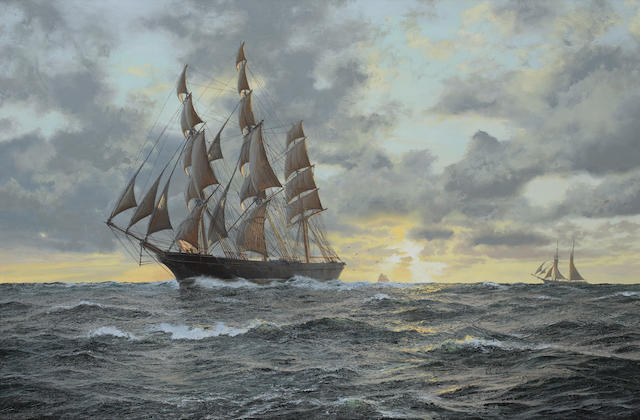John Steven Dews (British, born 1949) The legendary Clipper Ariel running free in the moonlight