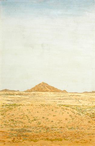 Adolph Jentsch, Landscape I, oil