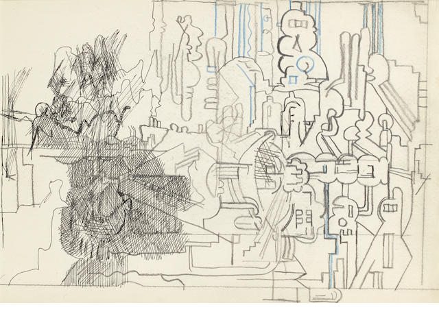 Sir Eduardo Paolozzi (British, 1924-2005) Untitled