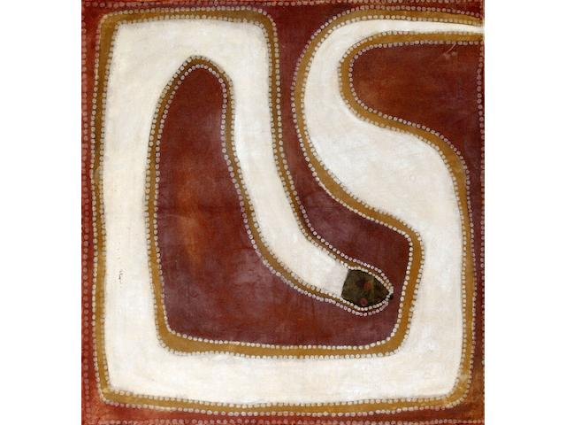 Rover Thomas (circa 1926-1998) Untitled (Rainbow Serpent)
