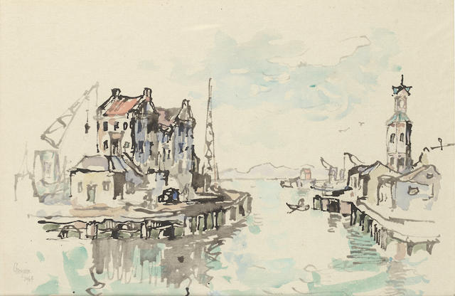 Gregoire Johannes Boonzaier (South African, 1909-2005) The old harbour, Cape Town
