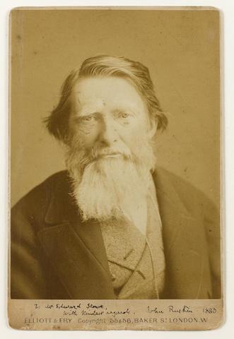 RUSKIN, JOHN (1819-1900, art critic, author, poet, artist and social reformer)