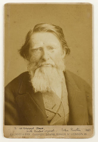 RUSKIN, JOHN (1819-1900, art critic, author, poet, artist and social reformer)