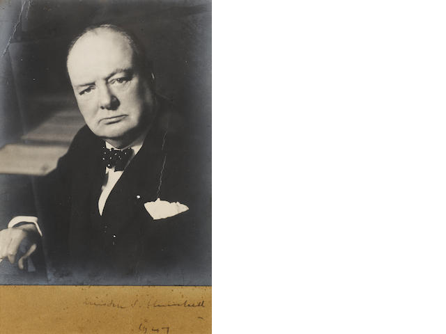 CHURCHILL, Sir WINSTON (1874-1965, statesman, Prime Minister, war leader and author)
