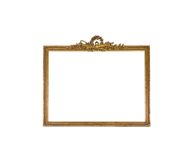 A large Louis XVI carved and gilded frame