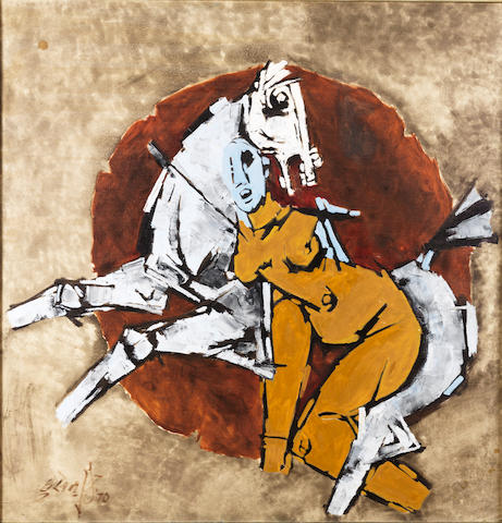 Maqbool Fida Husain (India, born 1915) Untitled,