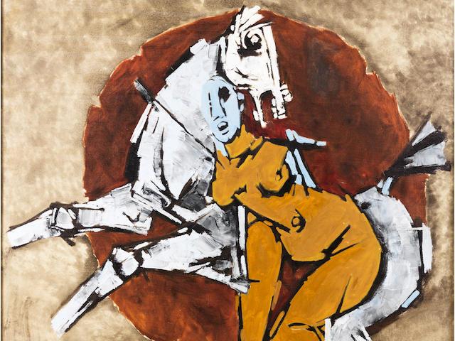 Maqbool Fida Husain (India, born 1915) Untitled,