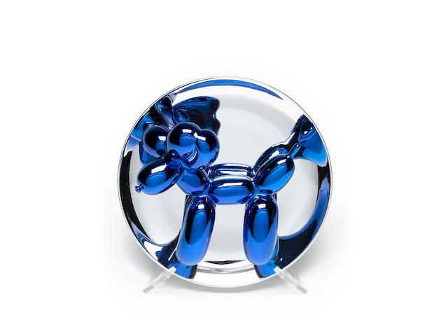 Jeff Koons (American, born 1955) 'Ballon Dog (blue)', 2002 26cm (10 1/4in.) diam.