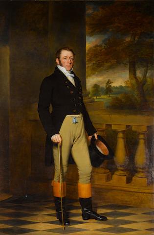 John Ponsford (British, born circa 1790-1870) Portrait of Sir George Henry Smyth, Baronet (1784–1852)