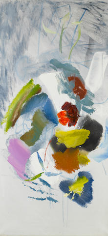 Ivon Hitchens (British, 1893-1979) Flower Arabesque 105 x 51 cm. (41 1/4 x 20 in.) (unframed)