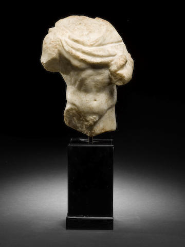 A Roman marble male torso of a youth