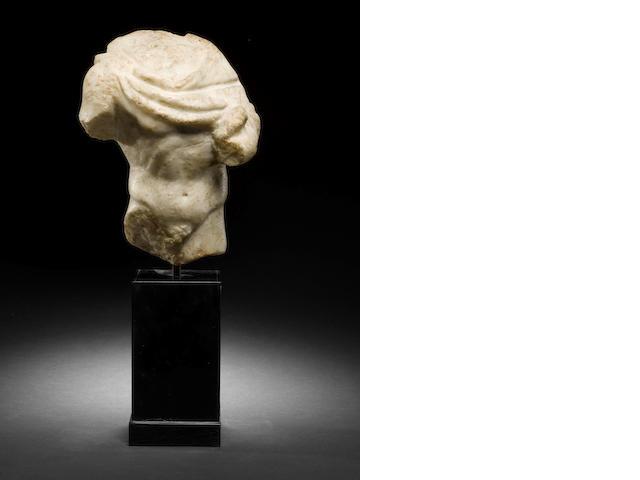 A Roman marble male draped torso