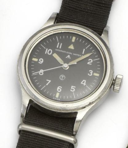 IWC. A stainless steel centre seconds military issue wristwatch Mark XI, Movement No.1266709, Issued in 1952