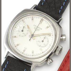 Heuer. A stainless steel manual wind chronograph wristwatch Camaro,  Ref: 7743, 1970's??