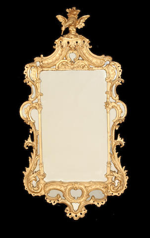 A pair of Italian late 19th century Carton-pierre mirrors  in the Rococo style