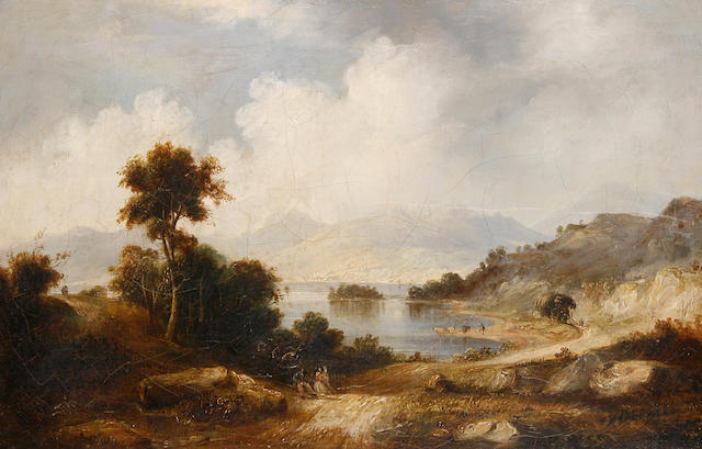 Circle of Alexander Nasmyth (Edinburgh 1758-1840) A lakeland view