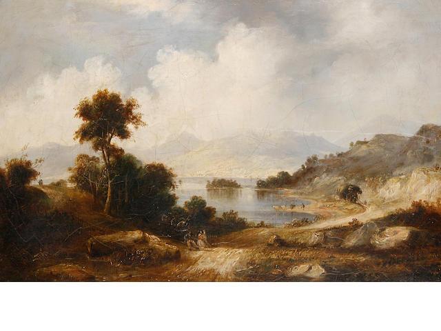 Circle of Alexander Nasmyth (Edinburgh 1758-1840) A lakeland view