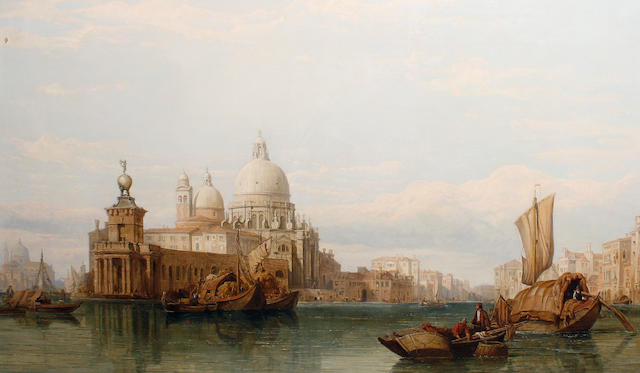 Attributed to George Clarkson Stanfield (British, 1828-1878) The Grand Canal, Venice
