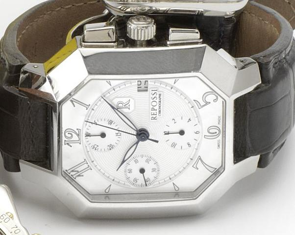 Repossi. A stainless steel automatic calendar wristwatch Monaco Chronograph, Case No. 271, Recent