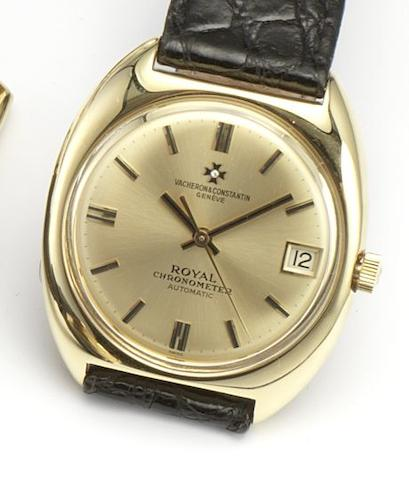 Vacheron Constantin. An 18ct gold automatic centre seconds wristwatchRoyal Chronometer, Ref.7375, Circa 1970's