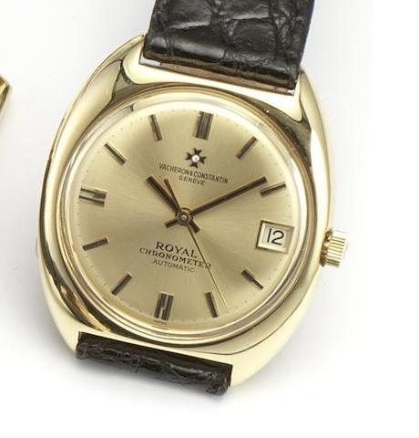 Vacheron Constantin. An 18ct gold automatic centre seconds wristwatch Royal Chronometer, Ref.7375, date???
