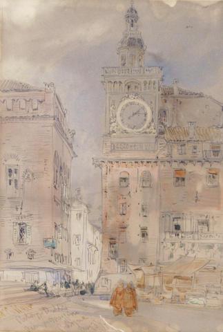 William Callow, RWS (British, 1812-1908) Piazza Maggiore, Bologna