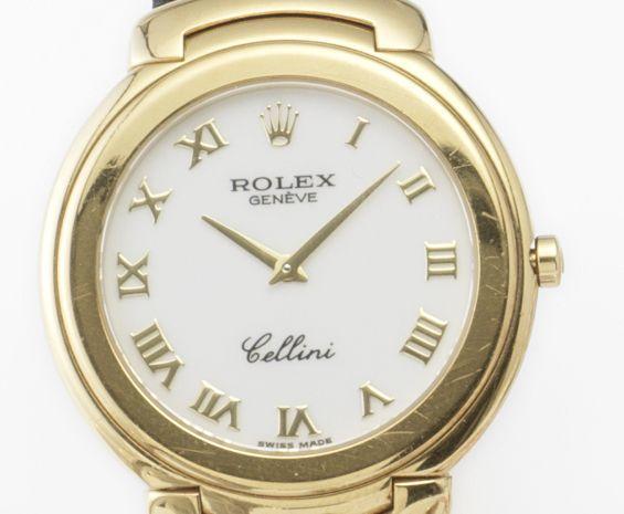 Rolex. An 18ct gold quartz wristwatch Cellini
