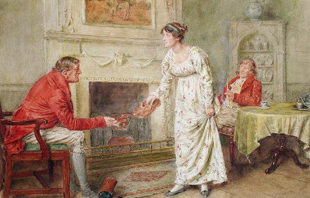 George Goodwin Kilburne, RI, RBA (British, 1839-1924),   After the meet