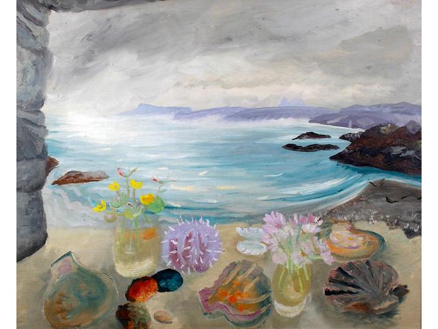 Winifred Nicholson (British, 1893-1981) Sea Treasures 60 x 76 cm. (23 1/2 x 30 in.)