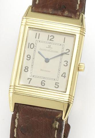 Jaeger-LeCoultre. An 18ct gold quartz wristwatchReverso, Ref.250.1.08, Case No.1702301, Movement No.2571639, Recent