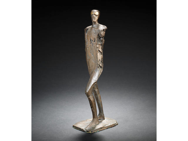 Dame Elisabeth Frink R.A. (British, 1930-1993) Small figure with goggles 42.5 cm. (16 3/4 in.) high