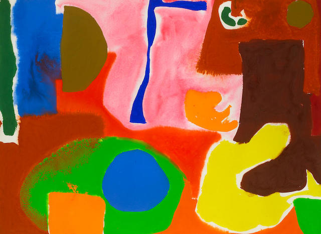Patrick Heron (British, 1920-1999) January 5: II: 1983 58.4 x 78.7 cm. (23 x 31 in.)