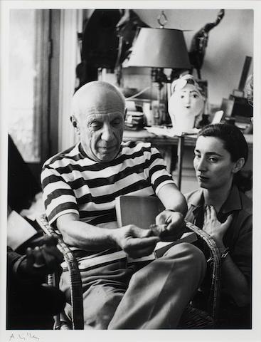 André  Villers (French, born 1930) Pablo Picasso et Jacqueline à Cannes, 1961