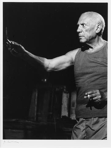 André  Villers (French, born 1930) Tourage du film 'Le Mystere Picasso' de H G Clouzot, Nice, 1955