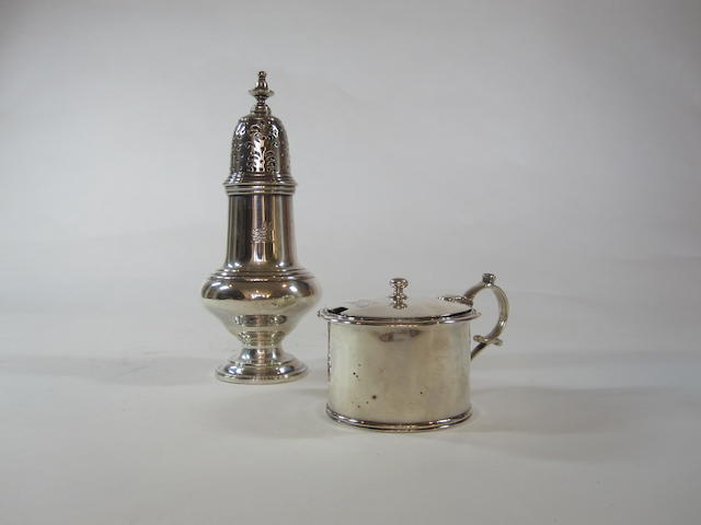 A silver George III drum mustard Maker's mark rubbed, London 1809