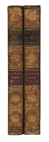BOSWELL (JAMES) The Life of Samuel Johnson, L.L.D. Comprehending an Account of His Studies and Numerous Works, in Chronological Order, 2 vol., FIRST EDITION