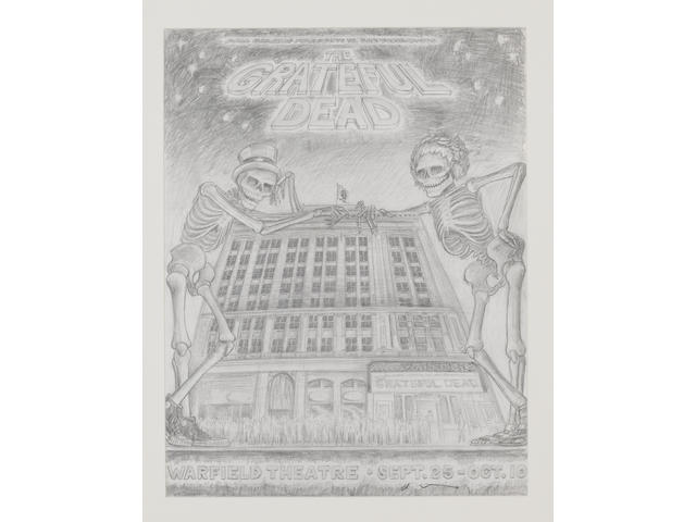 Dennis Larkins: Grateful Dead at the Warfield Theatre, 25th September-10th October, 1980,
