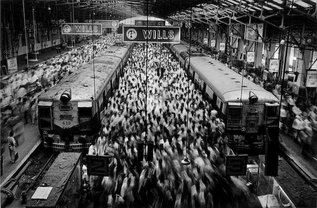 Sebastião Salgado (Brazilian, born 1944) Church Gate Station, Western Railroad Line, Bombay India, 1995