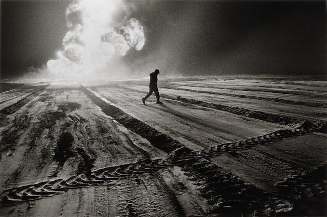 Sebastião Salgado (Brazilian, born 1944) Oil Wells, Kuwait 1991
