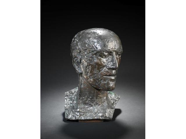Dame Elisabeth Frink R.A. (British, 1930-1993) Prisoner's Head 40 cm. (15 3/4 in.) high