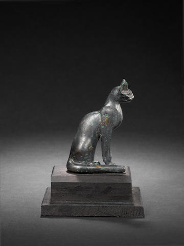 An Egyptian bronze cat - have lowered reserve a little