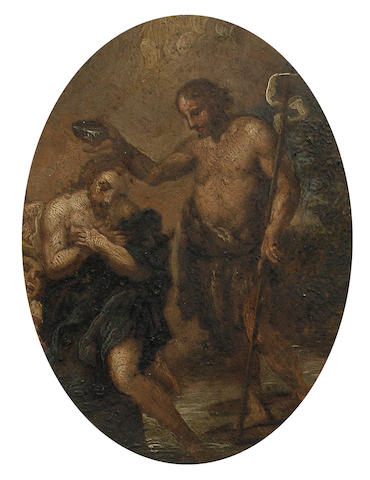 Italian School, 18th Century The baptism of Christ