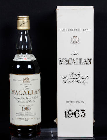 1 Bottle Whisky (boxed) (18 year old) - 1965 Macallan