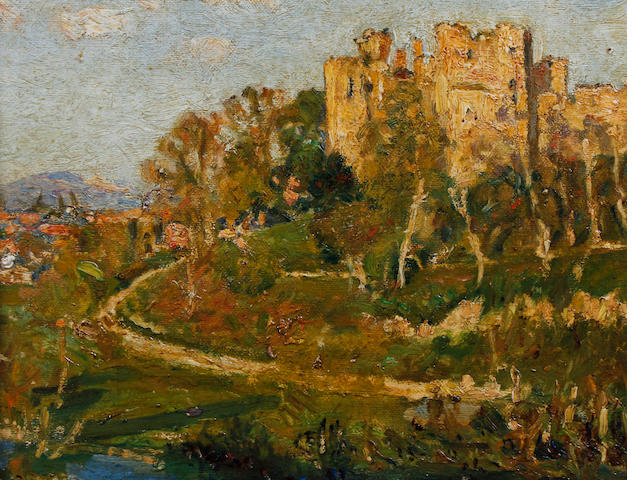 Mark Senior (British, 1864-1927) 'Ludlow Castle'