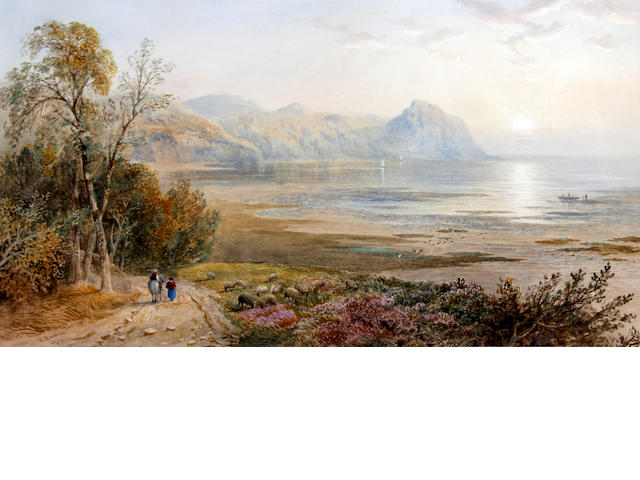 Cornelius Pearson (British, 1805-1891) 'Penmaenmawr Bay, North Wales' and 'Scene on Taly-y-llyn, North Wales', a pair
