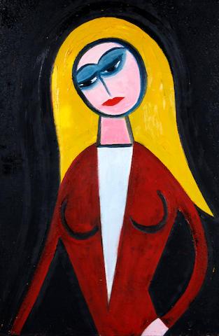 Theodore Major (British, 1908-1999) Female figure in red
