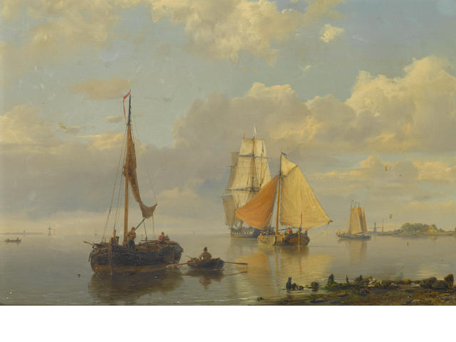 Hermanus Koekkoek the Elder (Dutch, 1815-1882) 'Nieuwer Amstel'