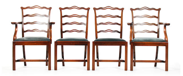 A set of six mahogany dining chairs, in George III style