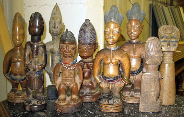 A pair of Yoruba male ibejis, and 8 others similar 9