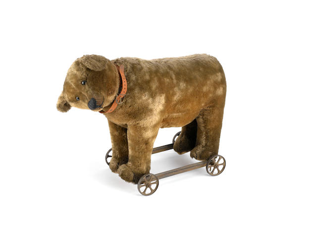 Early Bing bear on wheels, German circa 1909